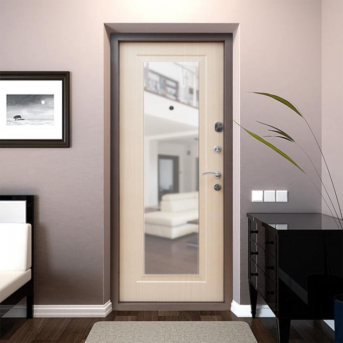 Входная дверь с зеркалом: за и против