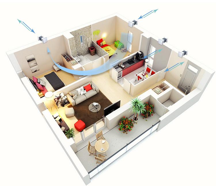 Способы улучшения вентиляции в квартире