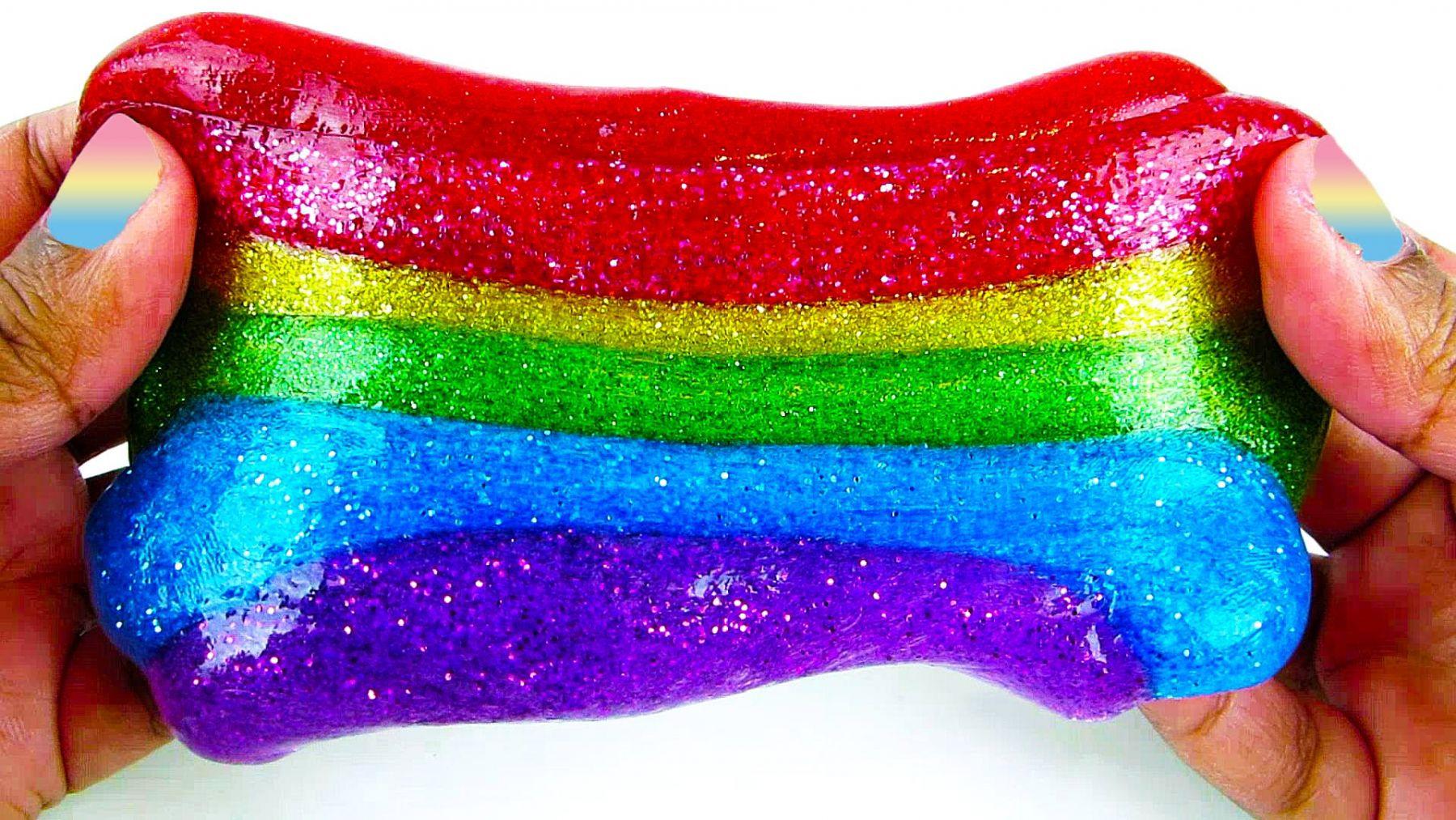 Красивые и яркие слаймы. Эффективный антистресс для детей и взрослых.