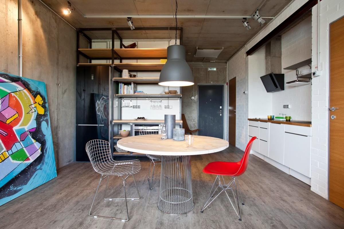 дизайн лофт однокомнатной квартиры меня